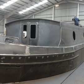 Widebeam shell by Aintree Boats
