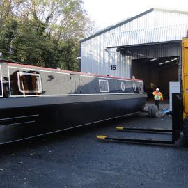 Loading canal boats for delivery