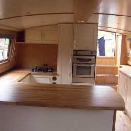 Fully fitted widebeam by Aintree Boats
